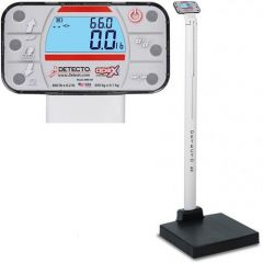Detecto Waist High Digital Scale With Mechanical Height Rod # Apex-AcUnited  Kingdom & Adaptor United  Kingdom 3 Pin