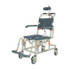 Al Essa Height Adjustable Aluminium Commode Chair With Flip Armrest, Adjustable Headrest & Detachable Footrest # Ca632L