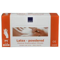 ABENA LATEX GLOVES POWDERED (Packet of 100pc)