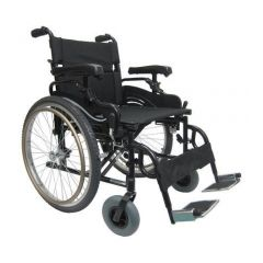 Karma Manual Light Weight Heavy Duty Wheelchair, Size 22 X 18 Inch, Colour Black # Km-8520Xf24