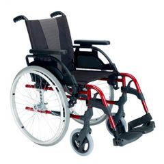 Sunrise - Breezy Style Wheelchair, 24 Inch Solid Spoke Wheel