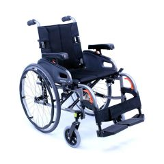 Karma Manual Light Weight Wheelchair Flexx, Weight Capacity: 130 Kg- 91073-0037, Km-8022-19 X 16+ 1-Blk-Blk-5 X 22Q-Cen