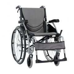 Karma Manual Wheelchair S-Ergo 115, Size 20 X 17 Inch, Colour Silver # Km-1510.3