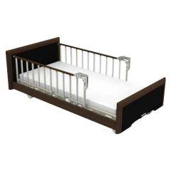 PARAMOUNT Bed Vip Model 3 Motorized-Dark Wood Color # Pa-93485V With 2 Units Bedside Rail - Dark Wood Color # Ps-023V