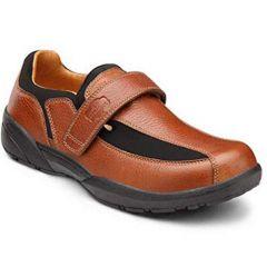Dr. Comfort Lightweight Velcro For Men- Douglas Shoes Chestnut – Wide