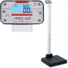 Detecto Waist High Digital Scale With Mechanical Height Rod # Apex-AcUnited  Kingdom & Adaptor United  Kingdom 3 Pin