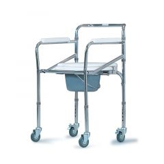 Al Essa Commode Chair With Wheels-Steel # Ca615