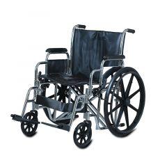 "Al Essa Heavy Duty Steel Wheelchair-22""(56Cm) With Detachable Arm & Foot Rest #Ca928B"