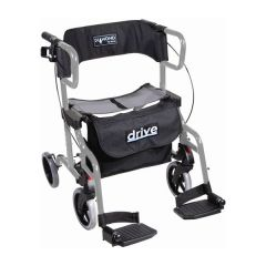 DRIVE Diamond Deluxe Rollator With Foot Rest Silver Color # 745Si