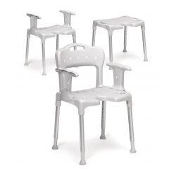 Etac Shower Chair Swift Grey With Arm Rest # 81701430