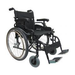 Karma Manual Light Weight Heavy Duty Wheelchair, Size 22 X 18 Inch, Colour Black # Km-8520Xf24