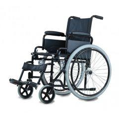"Al Essa Standard Wheelchair -18"" With Soild Pu Tyre/Spoke Wheel- Footrst & Arm Rest Removable # Yk9031"