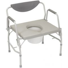 DRIVE Deluxe Bariatric Drop Arm Commode – 11135-1