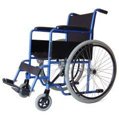 "AL ESSA Standard Wheelchair -18"" With Soild Pu Tyre/Spoke Wheel # Yk9011"