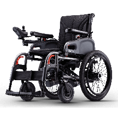 Karma Light Weight Power Wheelchair Size 20 Inch, 48 Cm Seat Width, Swing-Away Footrests, Flip-Back Armrests And Usb Charger.-Colour Black # Efl-20