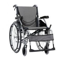 Karma Manual Wheelchair S-Ergo 115, Size 20 X 17 Inch, Colour Silver # Km-1510.3