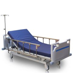 Medical Master Electric Hospital Bed # Meb-253 With Mattress 10 Cm And Collapsible Side Rails (Size: L2100 X W980 X H390-690 Mm)(Set Of 6 Parts)