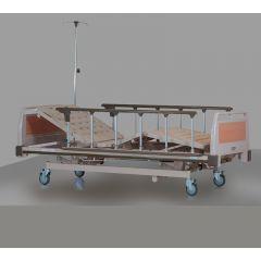 SIGMA Manual Bed (L2140Xw1000Mm) With Side Rail # B-330A, Mattress # Mf-100 And I.V. Pole