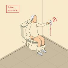 Rondish  Wireless Bathroom Safety-Fall  Management System  for Seniors and Disabled, Includes Pager, Motion sensor & Calling unit[RNDD5060+5062+5068]