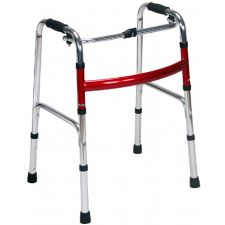 Al Essa Aluminum Walker Without Wheels and Reinforced Flat H-Tube, #HFK-9105-1