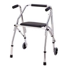 Al Essa Aluminum Walker With Seat, #HFK-9112
