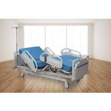 Medical Master Electric Hospital Bed (38 Cm) With Iv Pole, 12 Cm Mattress And Lifing Pole # Meb-903
